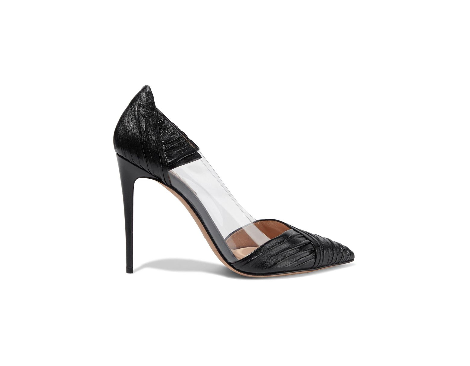 Pumps Leather And Woman Pvc Black Women's Ruched dxoCerB
