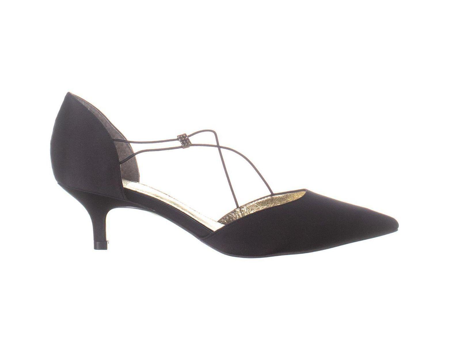 616ca3009a4d0 Adrianna Papell Lacy Kitten Heels in Black - Lyst