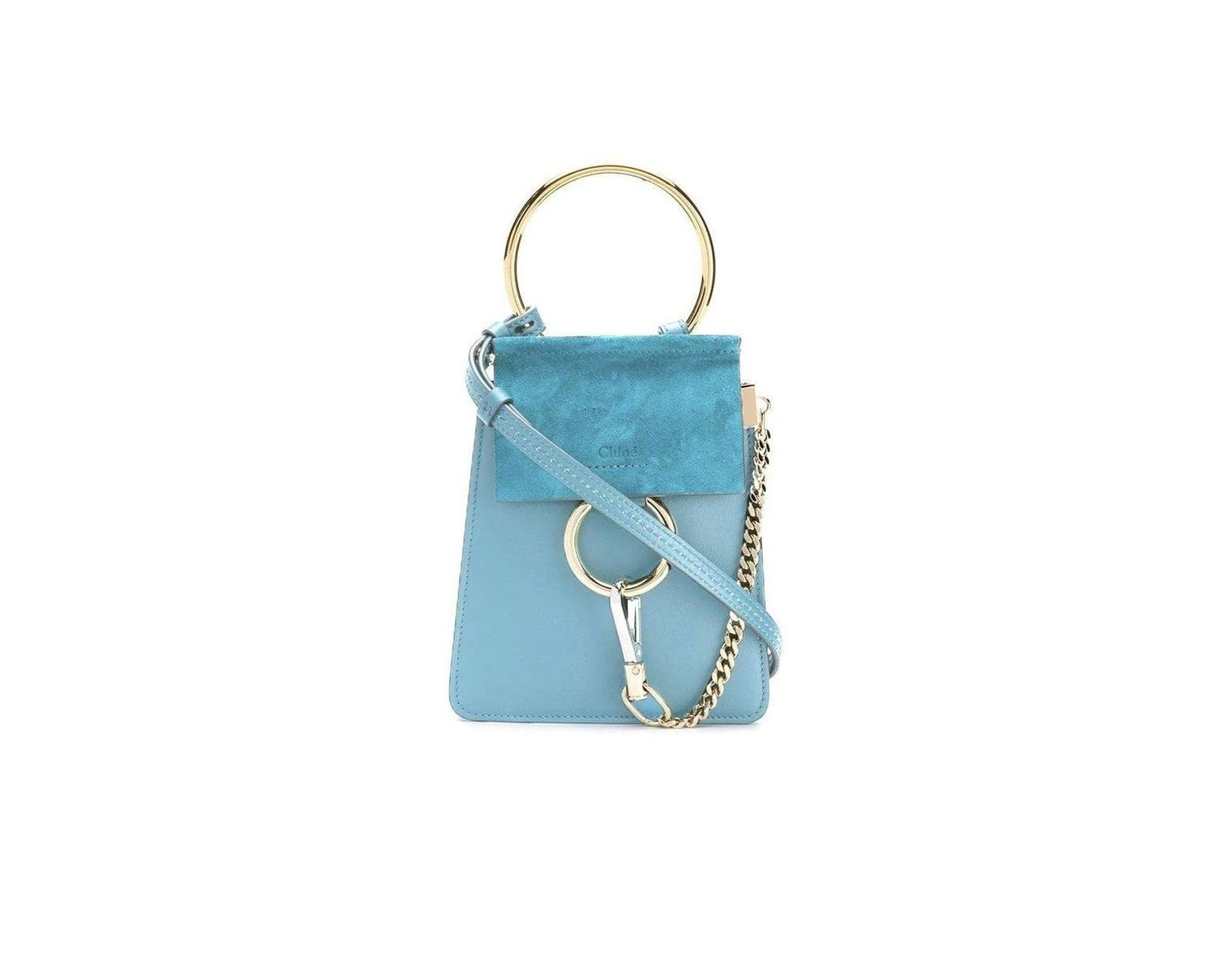 1f672f4b Chloé Faye Mini Bag, Tomboy Blue in Blue - Lyst