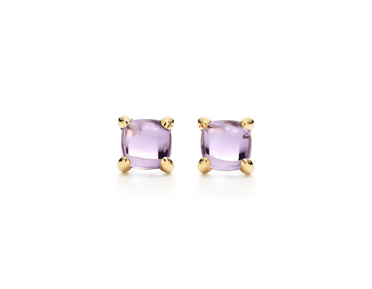 7ed4c3248 Tiffany & Co. Paloma's Sugar Stacks Earrings In 18k Gold With Amethysts in  Metallic - Lyst