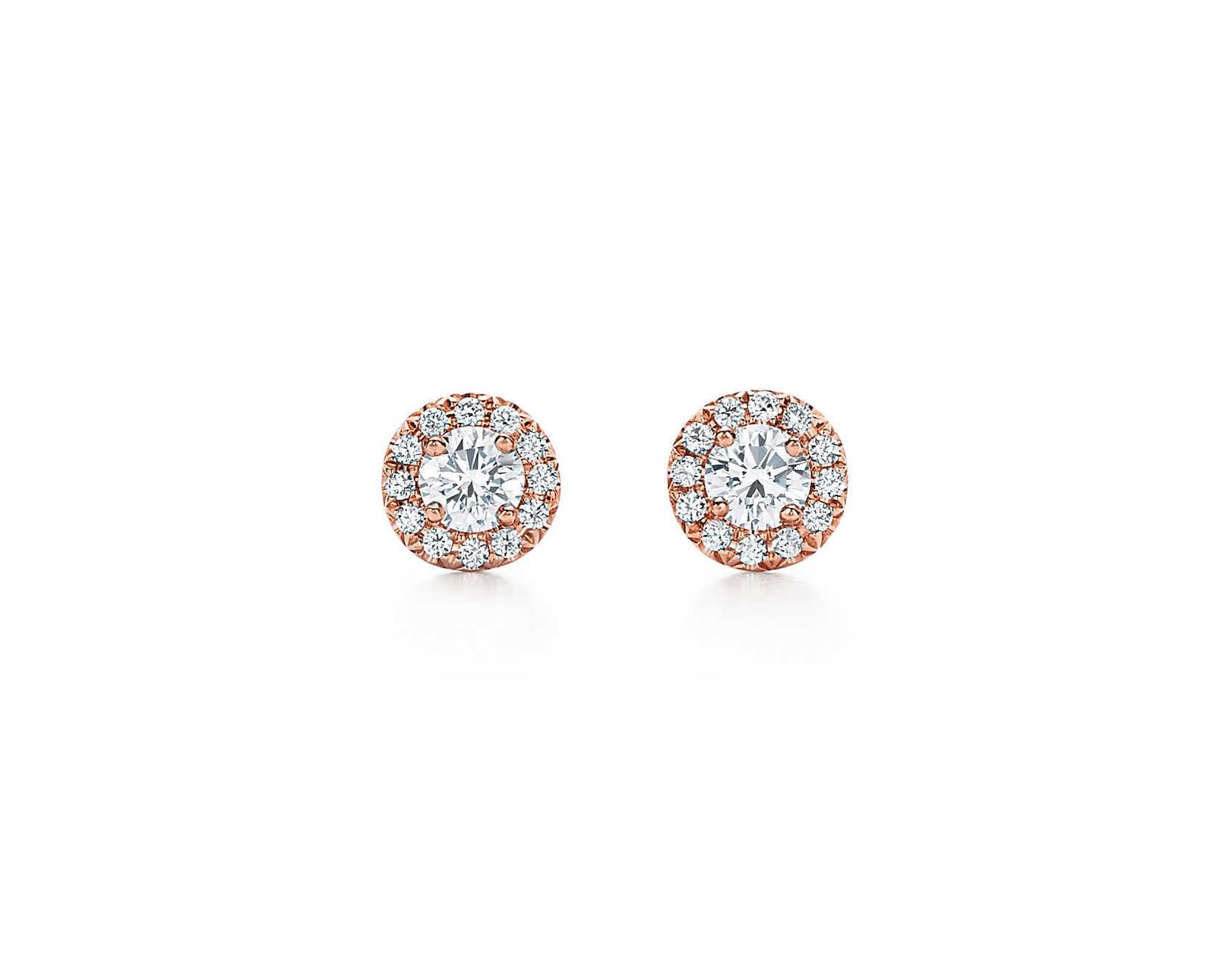93c2b0e08 Tiffany & Co. Tiffany Circlet Earrings In 18ct Rose Gold With Diamonds,  Mini in Metallic - Save 31% - Lyst