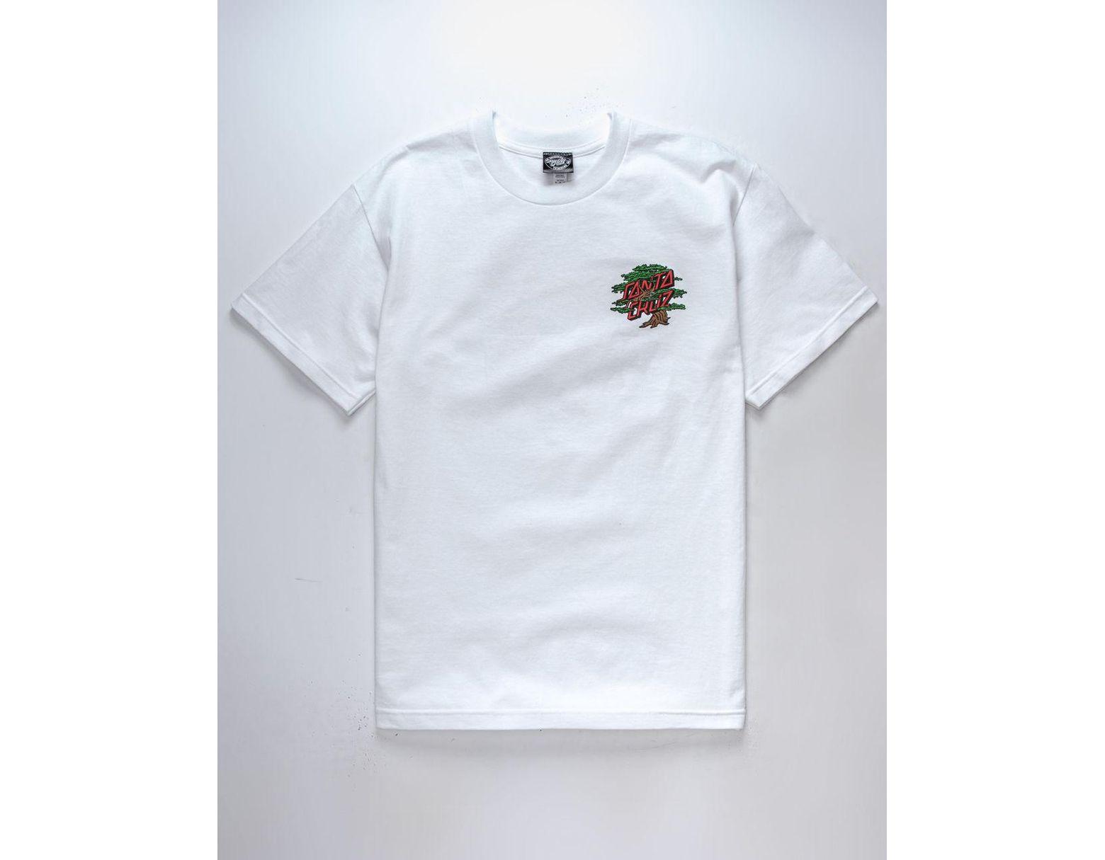 0bf2cdbf2 Santa Cruz Bonsai Dot Mens T-shirt in White for Men - Lyst