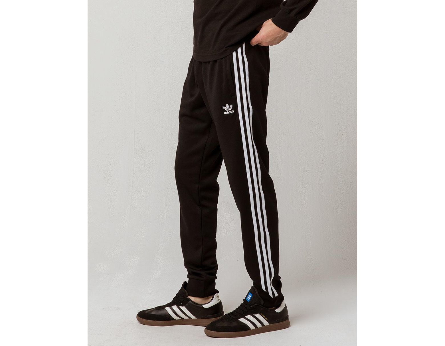 b860479b8 adidas Originals Side Stripe Mens Track Pants in Black for Men - Lyst