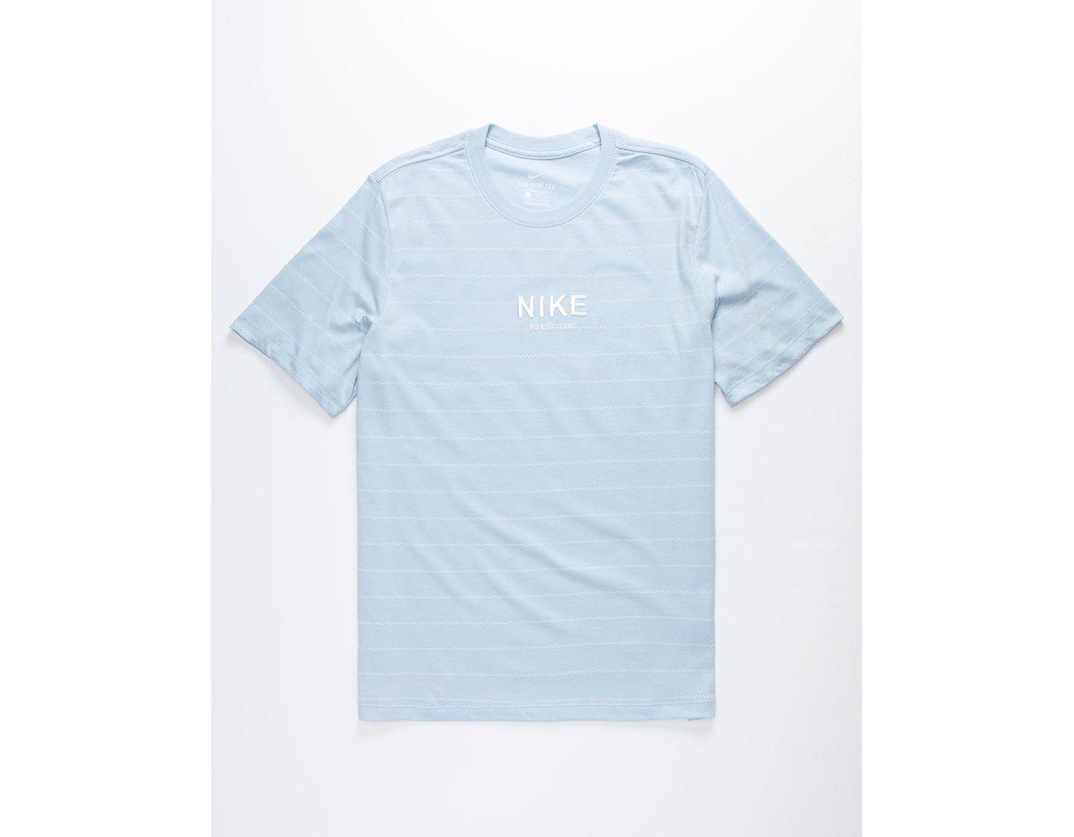 fc96e2b5 Nike Stripe Aop Light Blue Mens T-shirt in Black for Men - Lyst