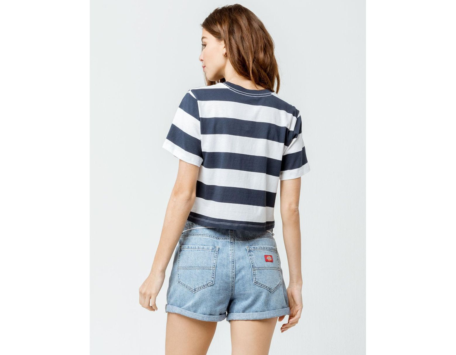 70120859675 Dickies Rugby Stripe Crop Tee in Blue - Save 20% - Lyst