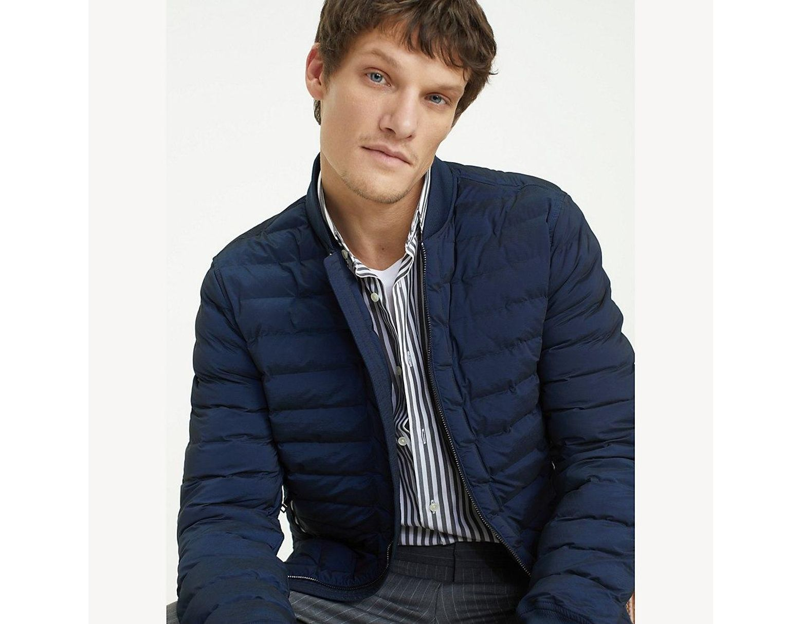 5b347e69269101 Tommy Hilfiger Stitchless Quilted Bomber in Blue for Men - Lyst