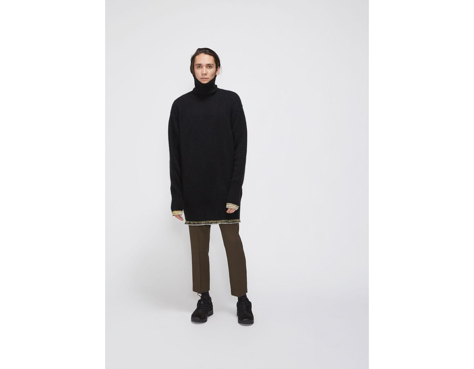 abf91abce4d21a Maison Margiela Oversized Turtleneck Sweater in Black for Men - Lyst