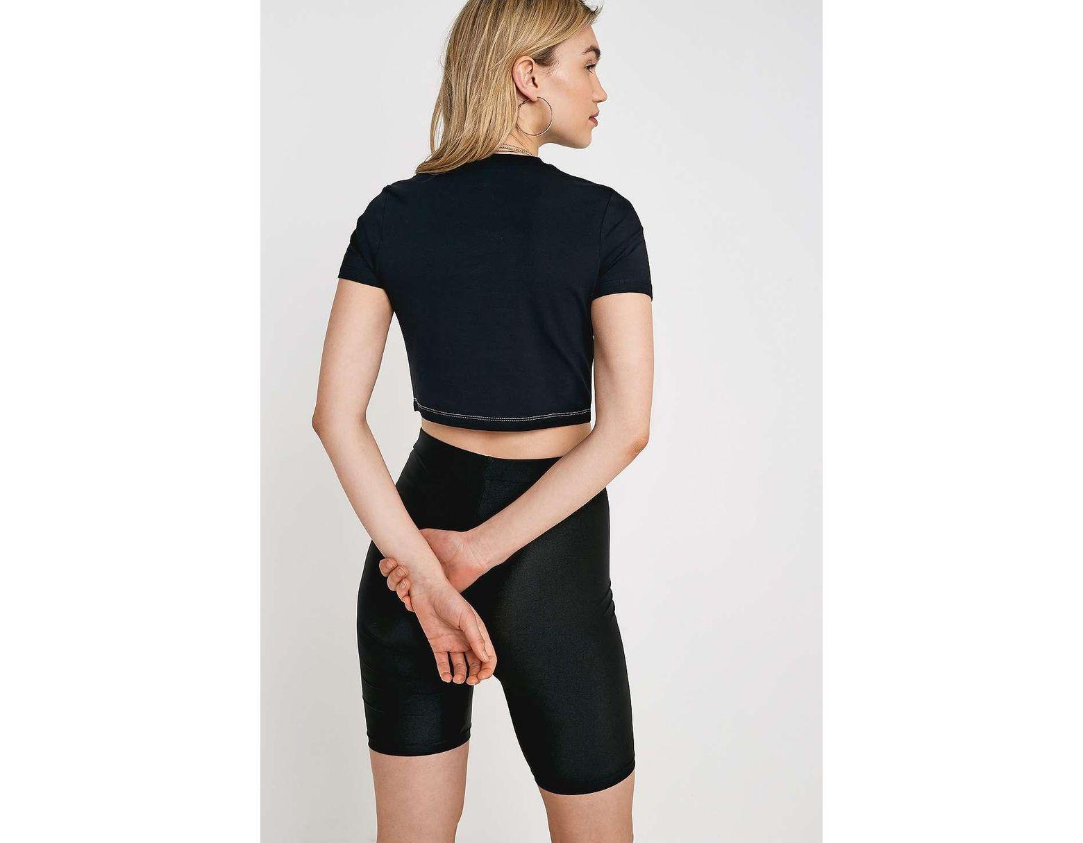 7c16c71018f812 Fila Keyhole Crop T-shirt in Black - Lyst