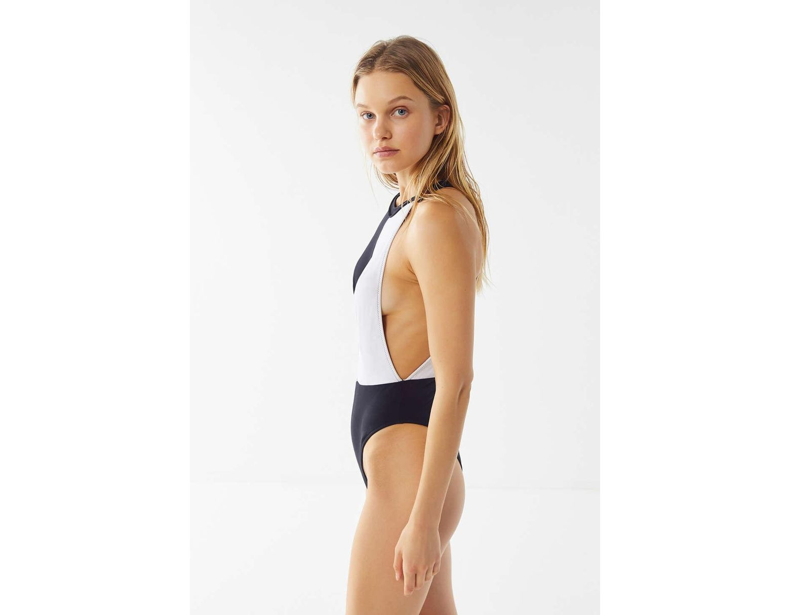f65e632cd0e67 Volcom Simply Rib High-neck One-piece Swimsuit - Lyst