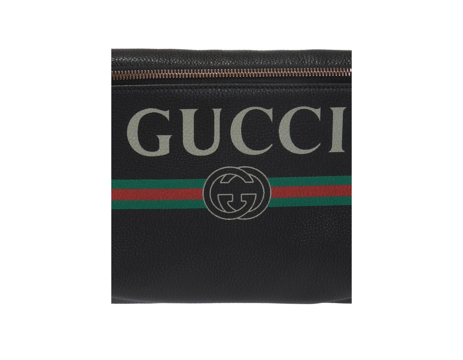 db0b7343f8066 Lyst - Gucci  web  Stripe Belt Bag in Black for Men