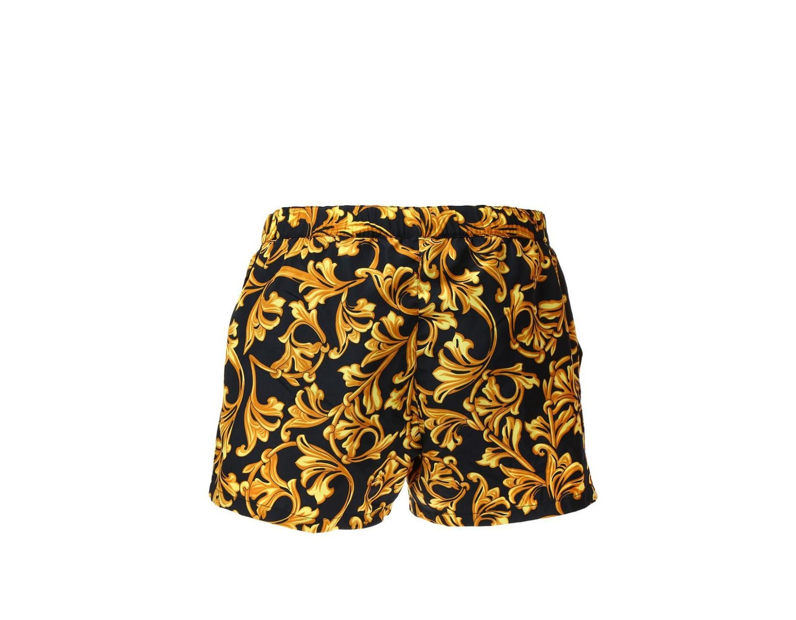 c905d46005 Versace Baroque Pattern Swim Shorts in Black for Men - Lyst