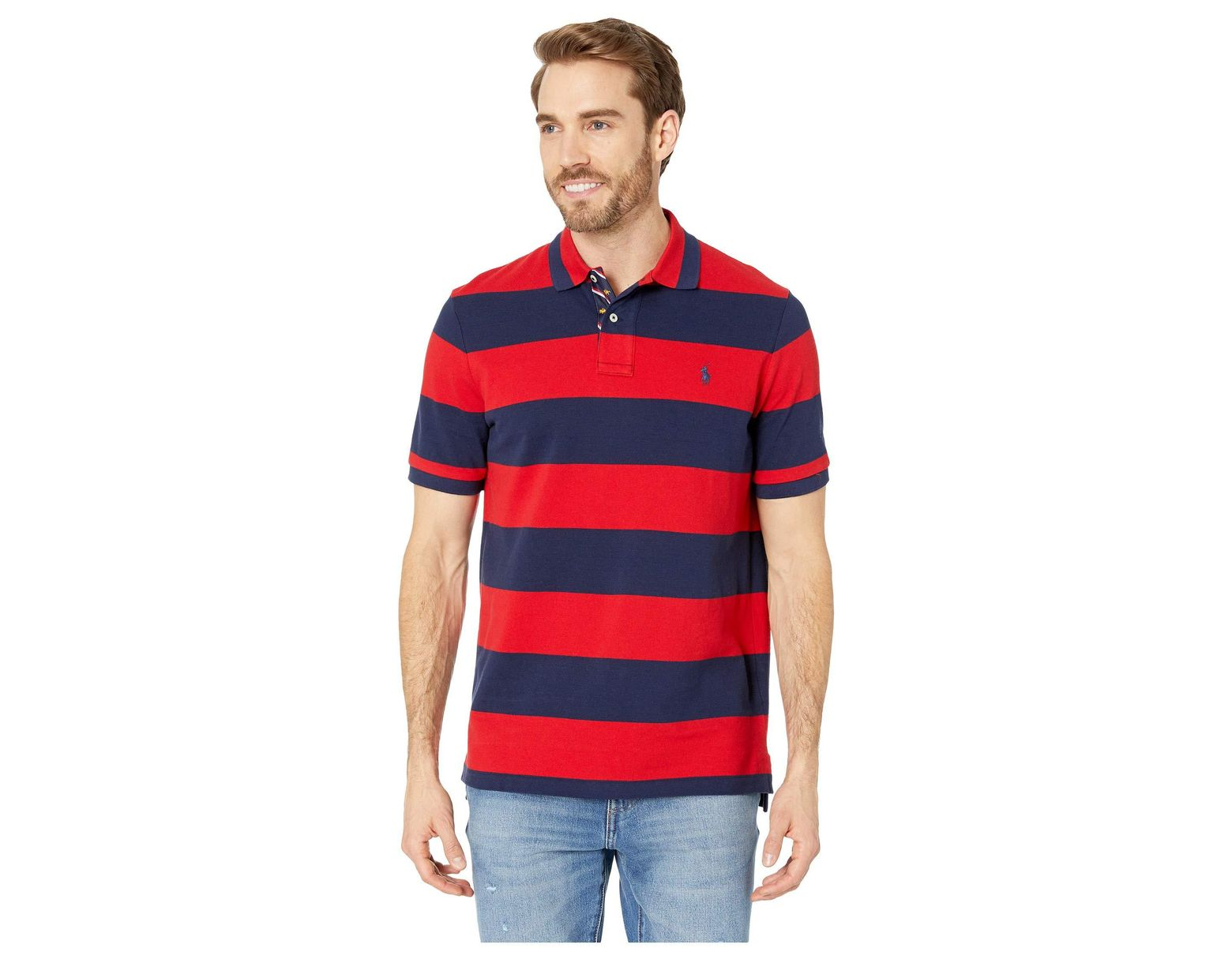 9aa7e2d5 Polo Ralph Lauren Yarn-dyed Mesh Short Sleeve Knit (collin Blue/holiday  Navy) Men's Clothing in Red for Men - Lyst