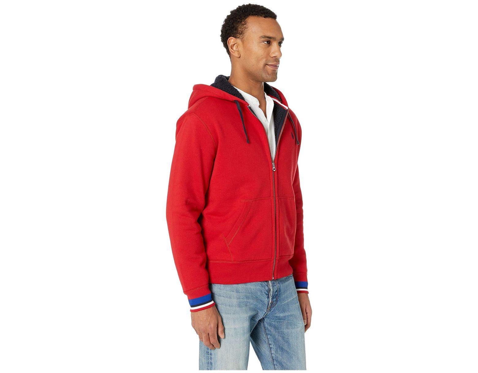 1b6b45cd8 Polo Ralph Lauren Sherpa Fleece Full Zip (aviator Navy) Men s Clothing in  Red for Men - Lyst