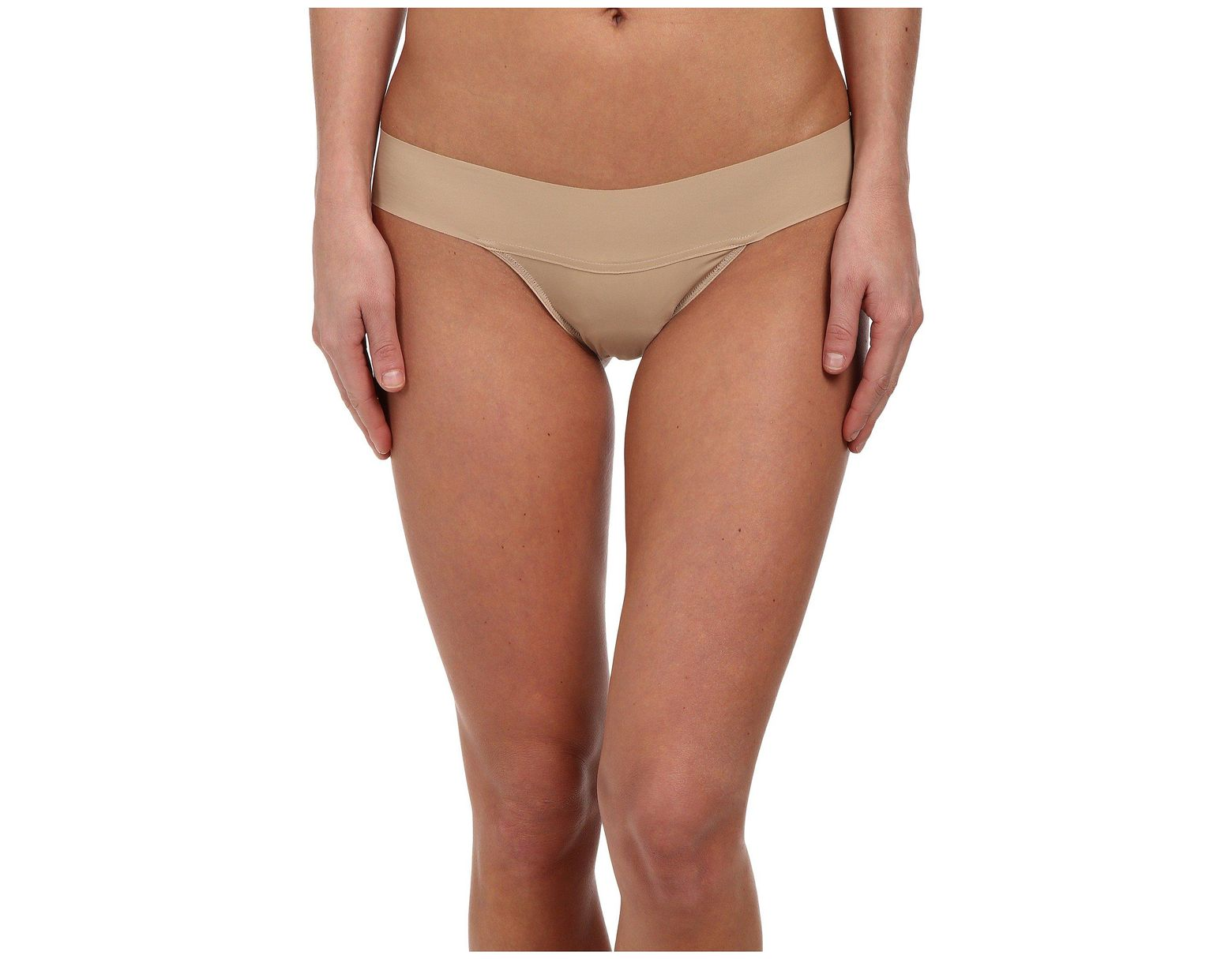 99bfcc947117 Hanky Panky Bare(r) Eve Natural Rise Thong in Brown - Lyst