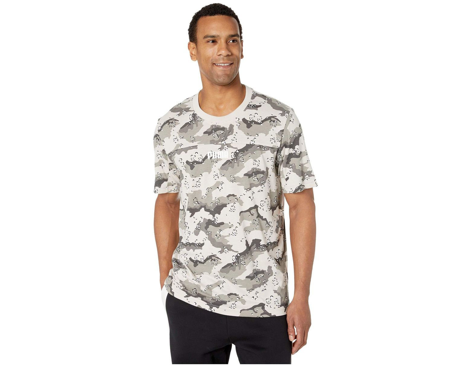 96c37d0c821 PUMA Wild Pack Aop Tee (silver Gray desert Aop) Men s T Shirt in Gray for  Men - Save 3% - Lyst