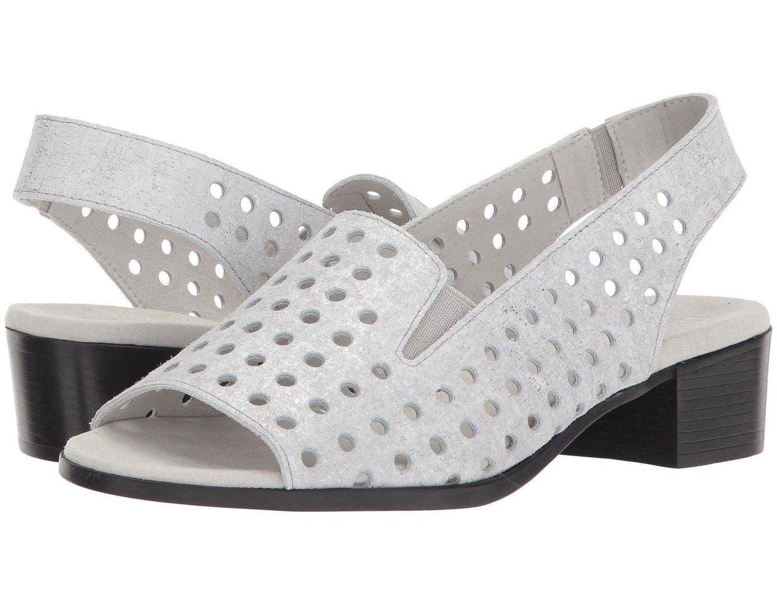 e61b828f1200 Lyst - Munro Mickee (black Nubuck) Women s Sandals in Metallic