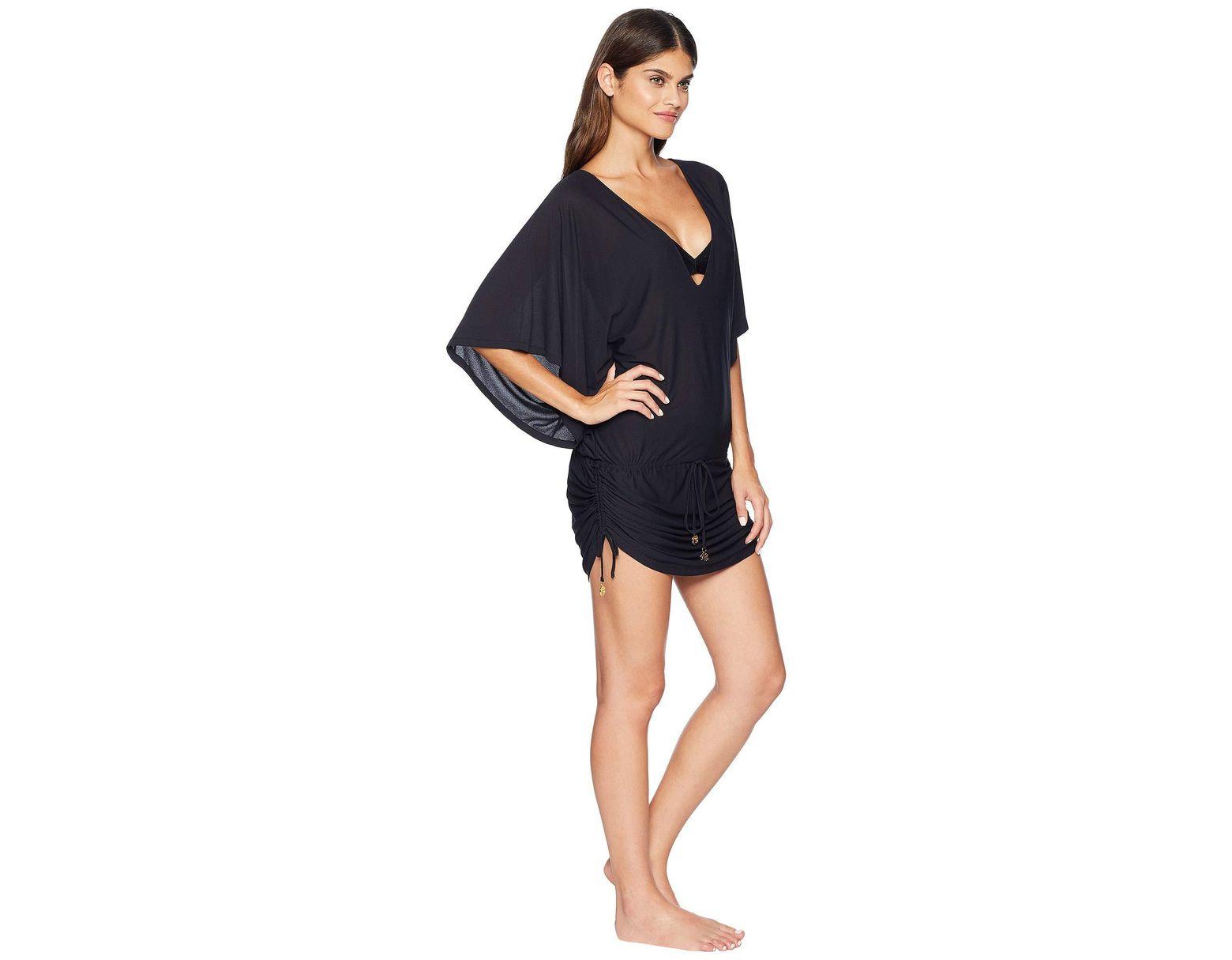 7cae38bbef Lyst - Luli Fama Cosita Buena Cabana V-neck Dress Cover-up (black) Women's  Swimwear in Black