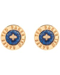 Ted Baker | Blue Tempany Enamel Button Stud Earrings | Lyst