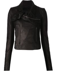 Rick Owens - Black Fitted Biker Jacket - Lyst