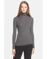 Vince | Black Skinny Rib Turtleneck | Lyst