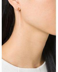 Carolina Bucci | Metallic Rose Gold 'mirador' Sparkly Stud Drop Earrings | Lyst