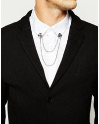 ASOS | Metallic Geo Circle Collar Tips for Men | Lyst