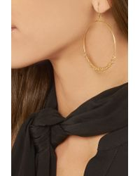Carolina Bucci - Metallic Large Lucky 18-karat And Woven Silk Hoop Earrings - Lyst