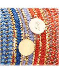 Biography - Pink Hot Coral Love Disc Bracelet - Lyst