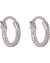 Ileana Makri - Metallic Huggie Hoop Earrings - Lyst