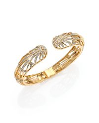 Adriana Orsini | Metallic Radiance Pavé Crystal Double-starburst Bracelet/goldtone | Lyst