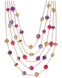 Style & Co. | Metallic Gold-tone Multicolor Bead Illusion Necklace | Lyst