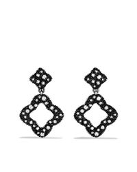 David Yurman | Metallic Quatrefoil Doubledrop Earrings with Diamonds | Lyst
