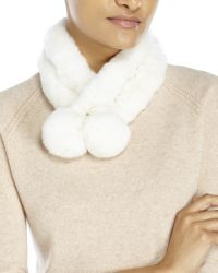 Surell | White Real Rabbit Fur Ladder Scarf | Lyst