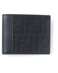 Fendi - Blue Monogram Wallet for Men - Lyst