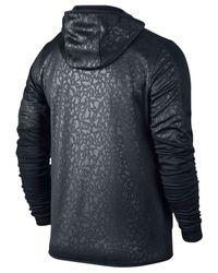 Nike | Black Men's Graphic Knit Full-zip Football Hoodie for Men | Lyst