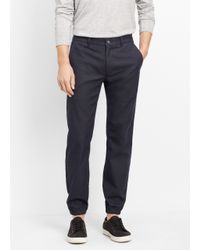 VINCE | Blue Cotton Blend City Jogger for Men | Lyst
