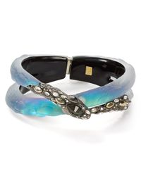 Alexis Bittar | Blue Lucite Crystal Lace Coiled Snake Bangle | Lyst