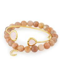 Tai - Pink Set Of Two Bracelets - Lyst