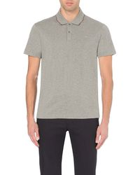 PS by Paul Smith | Gray Cotton-piqué Polo Shirt for Men | Lyst