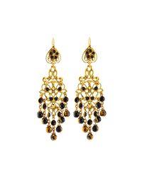 Jose & Maria Barrera - Black Crystal Long Chandelier Drop Earrings - Lyst