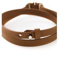 Ferragamo | Brown Wrap Around Gancini Bracelet | Lyst