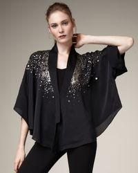 Elizabeth and James | Black Satya Sequined Jacket | Lyst