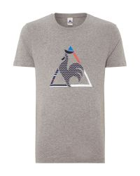 Le Coq Sportif - Gray Graphic N°6 Bicycle Short Sleeve T-shirt for Men - Lyst