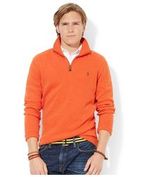 Polo Ralph Lauren - Orange French-Rib Half-Zip Pullover Sweater for Men - Lyst
