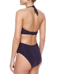 Jets by Jessika Allen - Purple Intuition Crisscross Cutout One-piece - Lyst