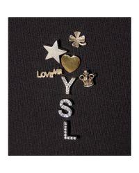 Saint Laurent - Metallic Embellished Pins - Lyst