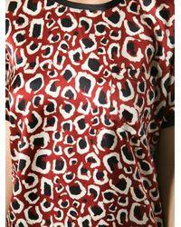 Gucci - Red Animal Print Tshirt - Lyst