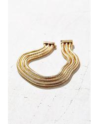Urban Outfitters - Metallic Spotlight Triple Chain Choker Necklace - Lyst