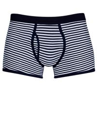 Sunspel | Blue Stripe Low Waist Egyptian Cotton Trunks for Men | Lyst