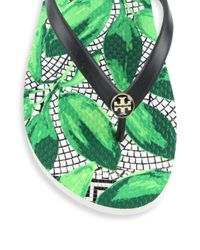 Tory Burch - Multicolor Printed Rubber Flip Flops - Lyst